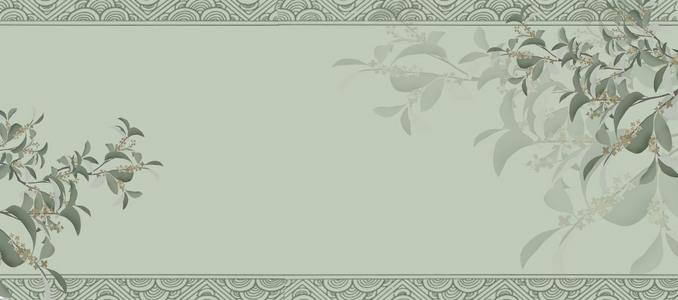 莫兰迪色文艺古风banner背景
