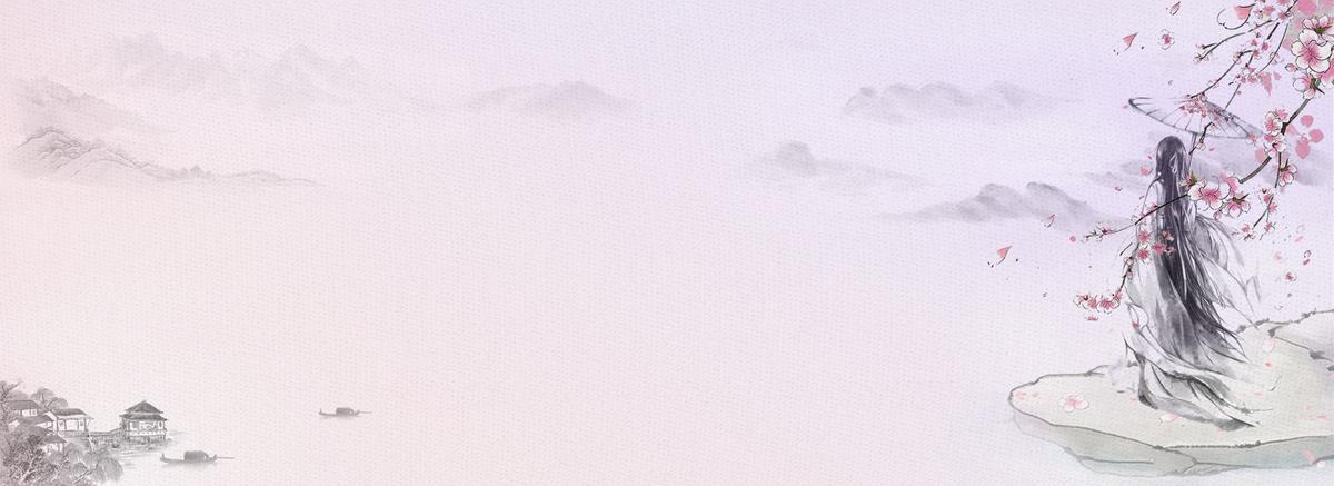 唯美浪漫古风粉色樱花节背景图片免费下载_海
