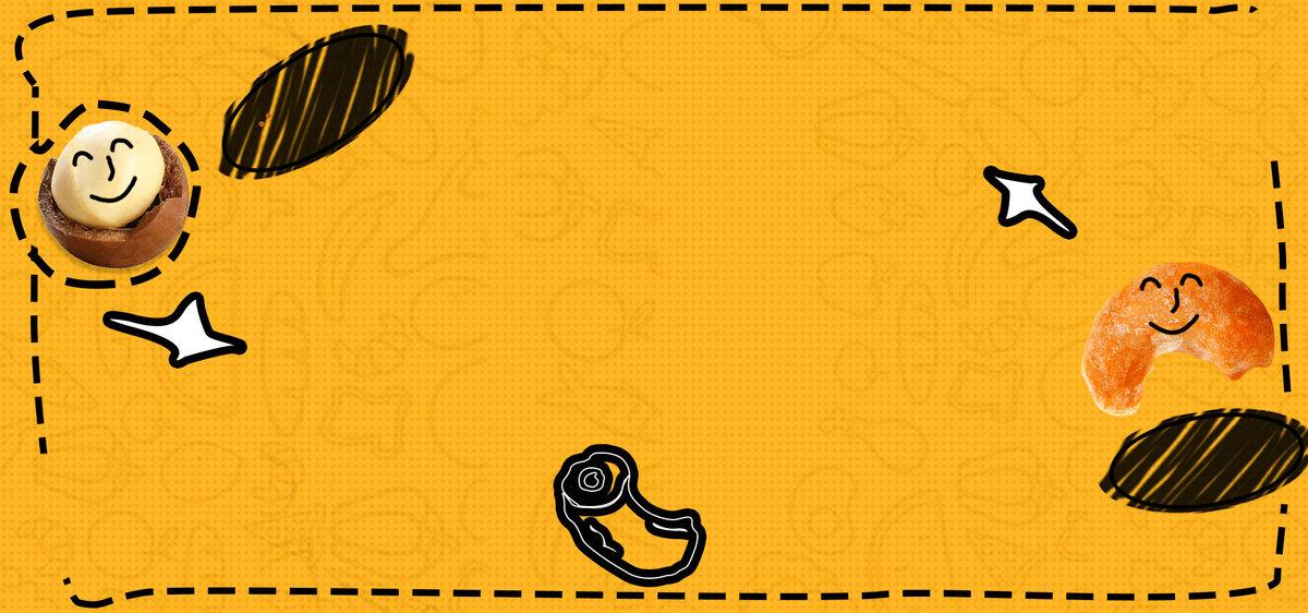 零食手绘风卡通清新可爱满减banner图片