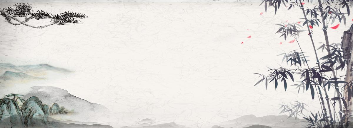 淡雅中国风山水风景背景图片免费下载_海报b