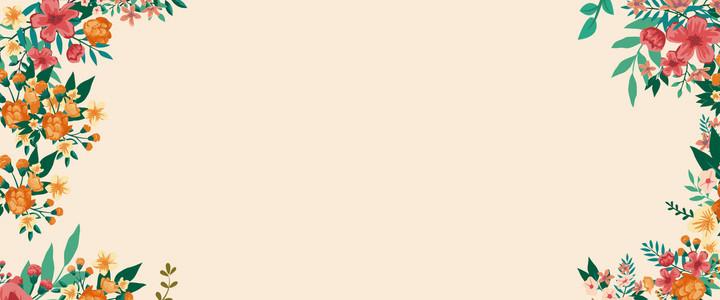 小清新唯美花朵边框背景图片免费下载_广告背