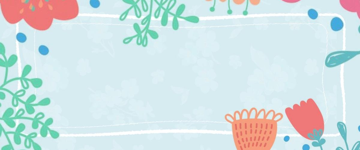 文艺小清新绿植花卉边框新品上新背景