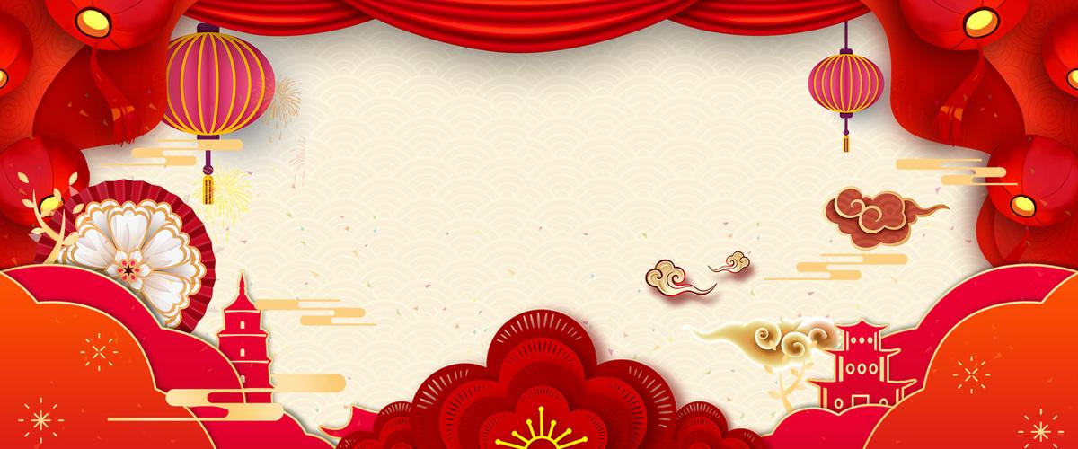 中国风猪年剪纸风微立体促销背景图片免费下载