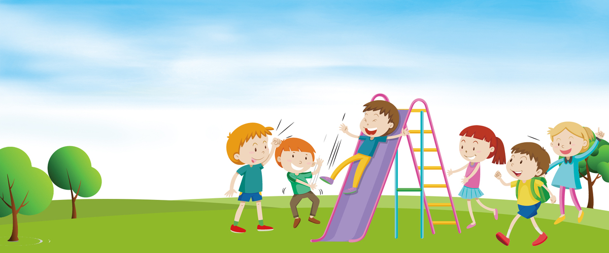 卡通风开学季幼儿园开园小朋友玩耍海报