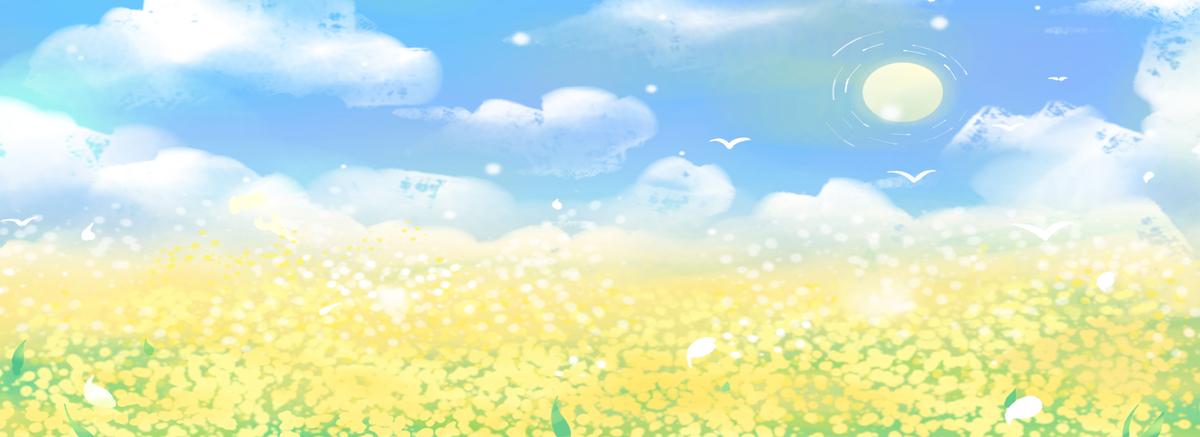 卡通蓝天白云免抠图