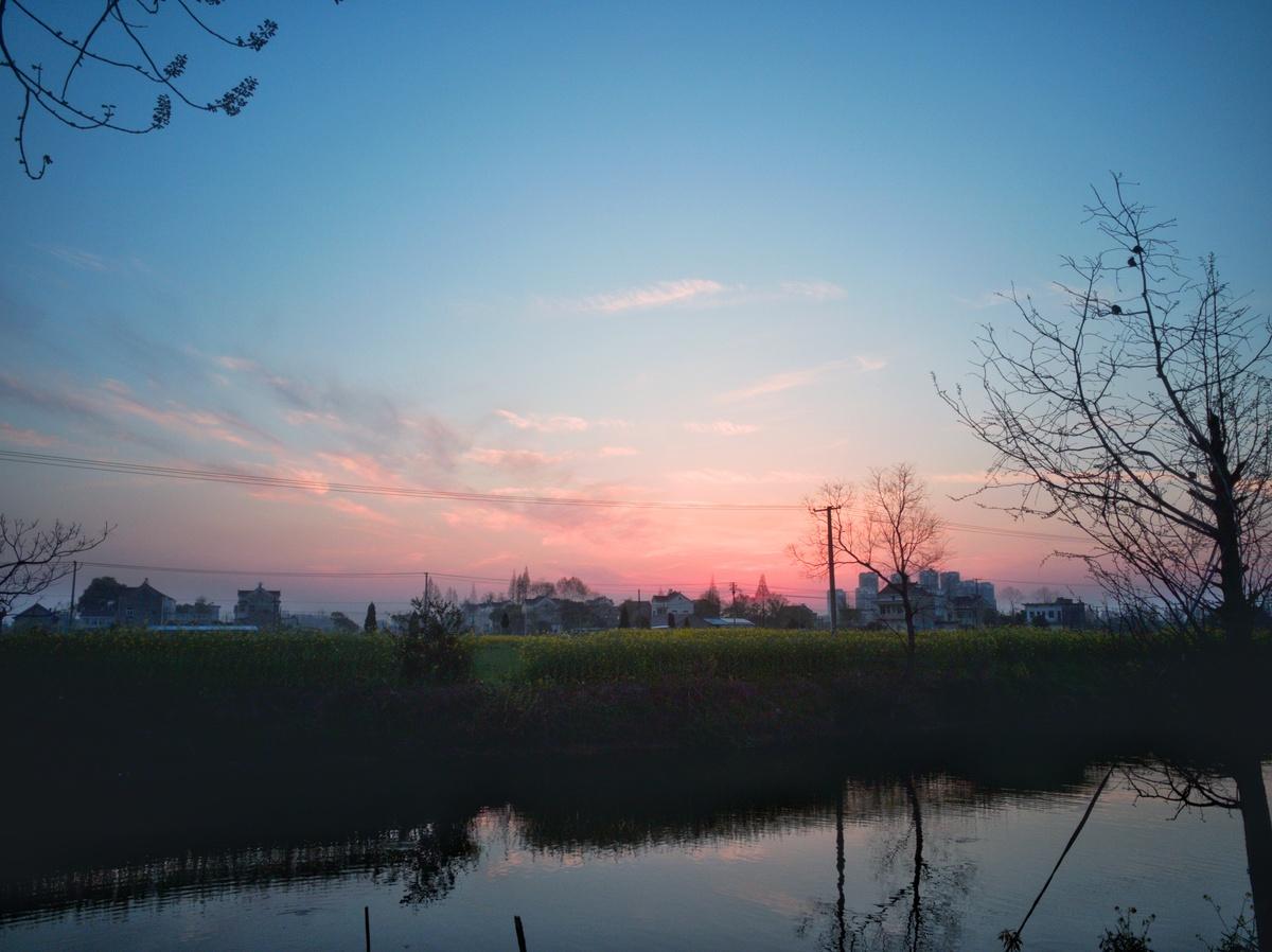 乡村傍晚风景摄影