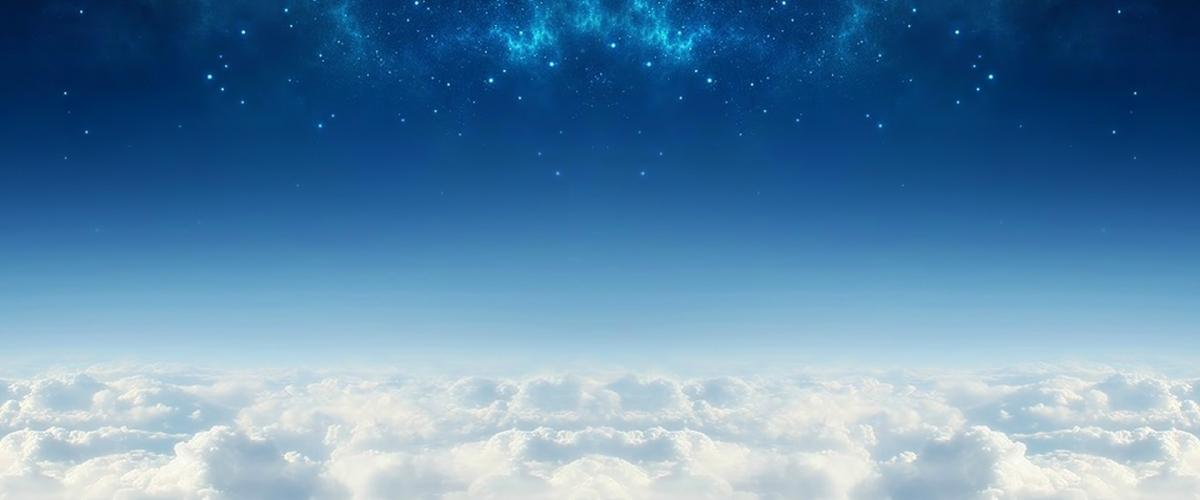 渐变天空星空蓝色背景素材