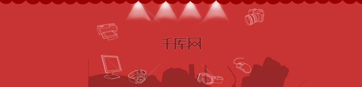 红色背景灯光素材模板