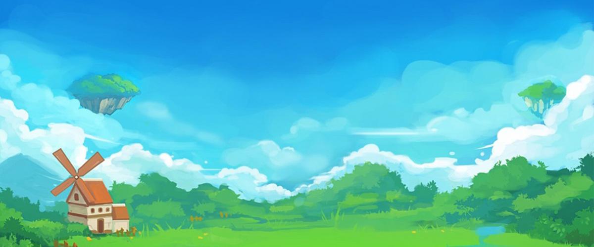 卡通乡村森林背景
