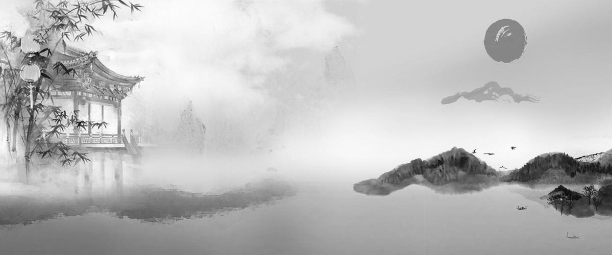 中国风山水墨画背景免费下载
