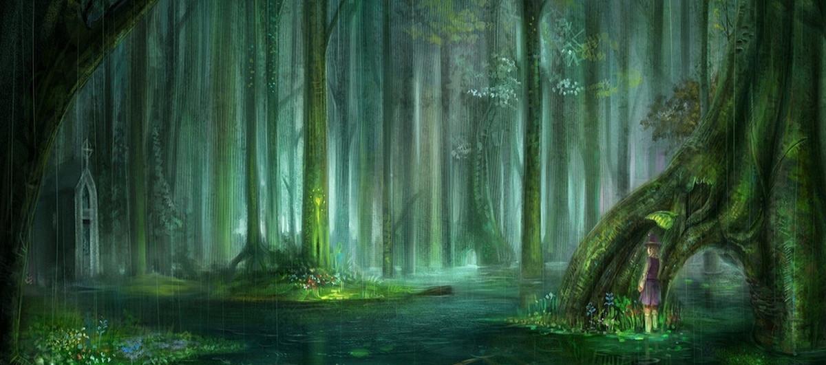 梦幻童话森林背景banner