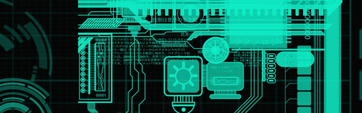 电子科技电路图绿色banner
