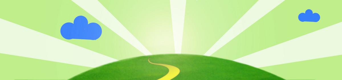 春天促销绿色清新渐变背景