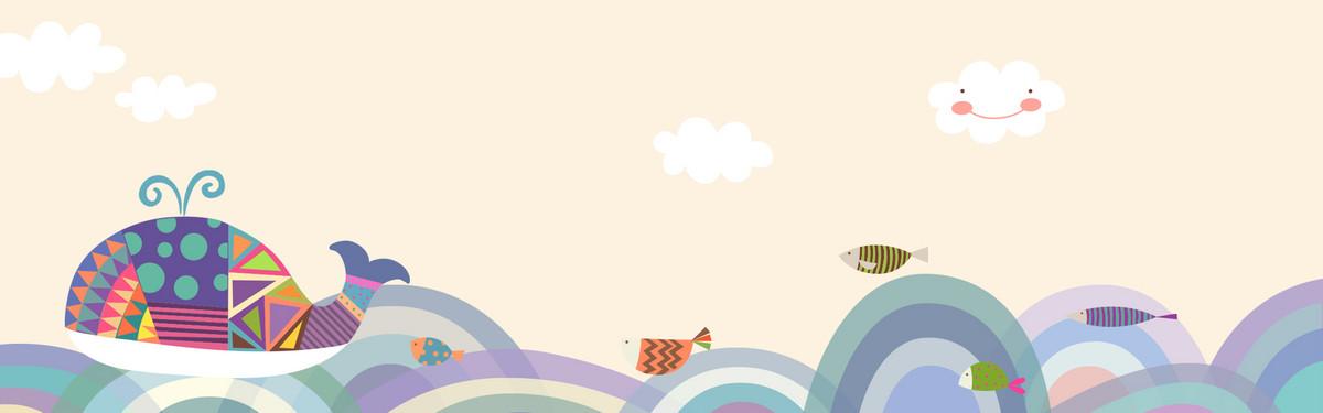 图片 > 【psd】 简约几何手绘卡通波浪背景  分类:卡通/手绘 类目