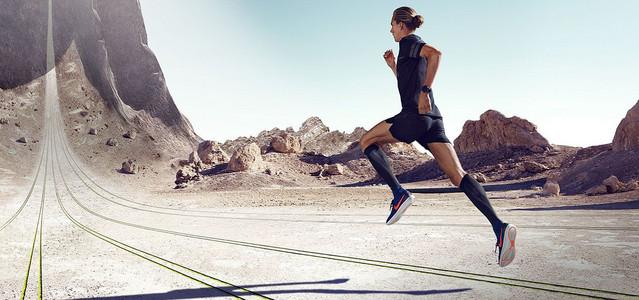 户外健身运动大气简约背景