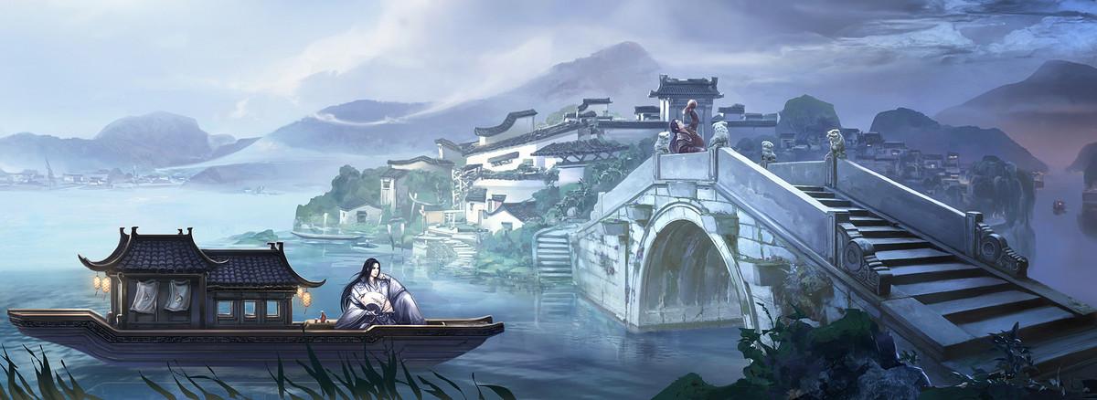 中国风手绘背景促销banner
