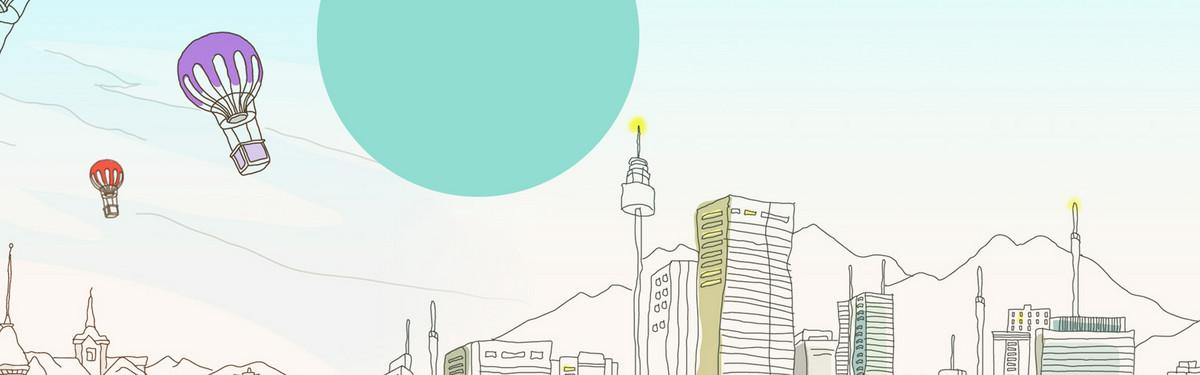 卡通手绘线稿旅游促销banner