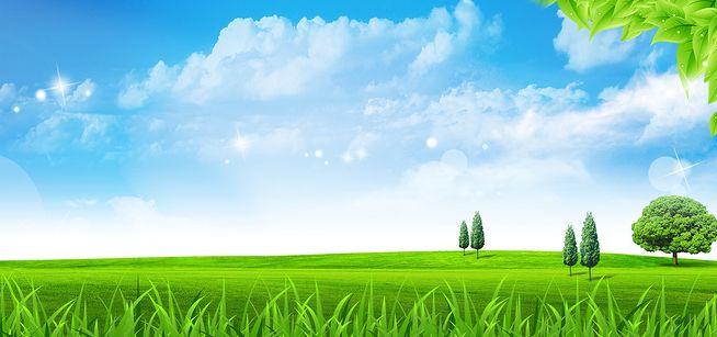 蓝天白云环保海报