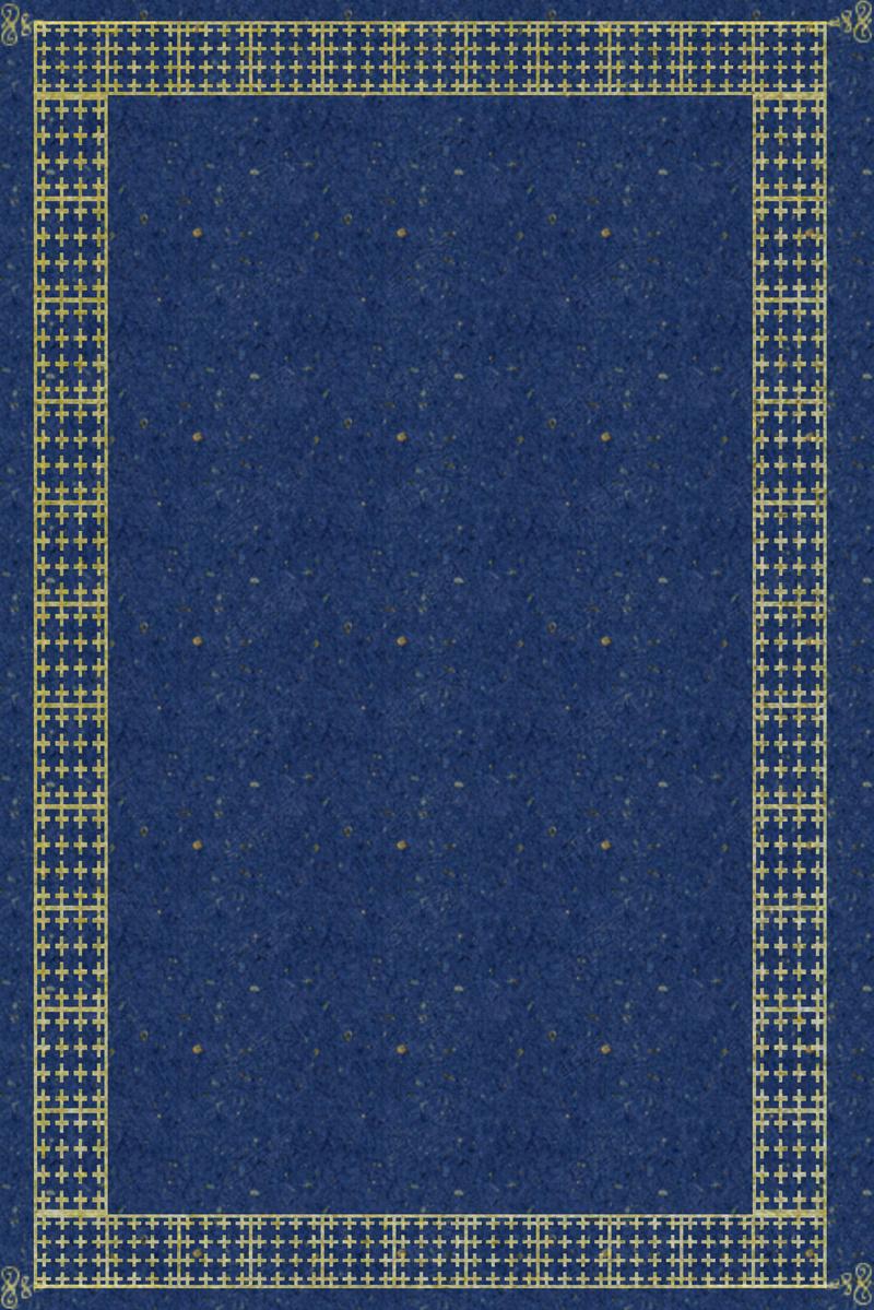 蓝色金边典雅欧式边框电商淘宝背景h5