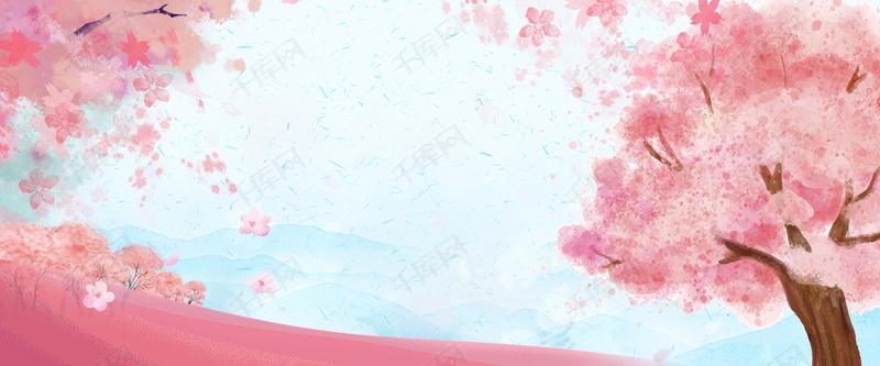 唯美浪漫小清新樱花节花朵背景图片免费下载