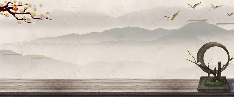 中国风中式别墅地产房地产海报