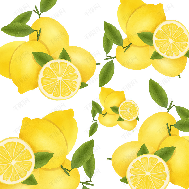 文艺手绘柠檬平面广告