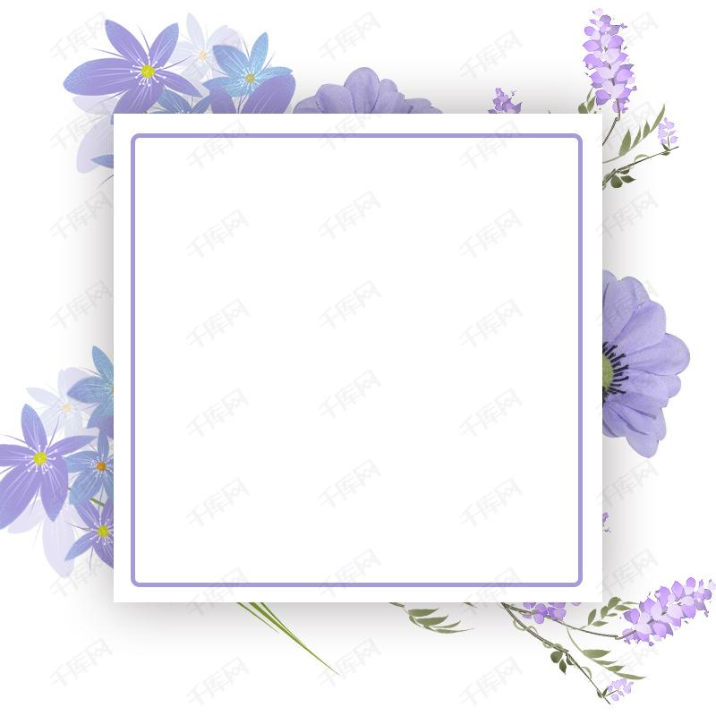 小清新手绘花背景促销主图