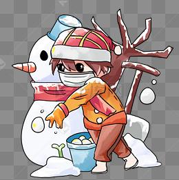 寒冷冬季保暖戴口罩男孩卡通人物png图片