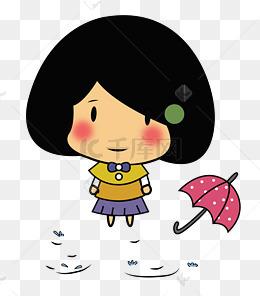 手绘生气河豚表情淋雨png精神e老卡通包图片