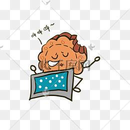 中秋节咬一口月饼呼呼大睡表情q版月饼免抠png图片