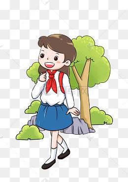 校园系列校服卡通手绘插画图片
