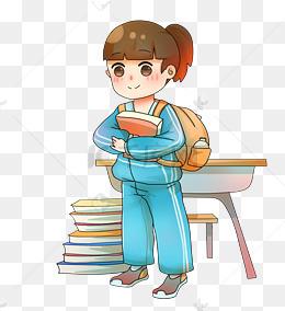 开学校园主题学生卡通人物图片