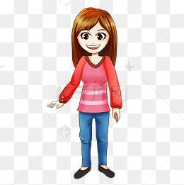 动漫人物卡通人物动漫学生女士图片
