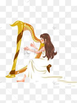 乐器女生简单设计素材黑白陌生表白对图片