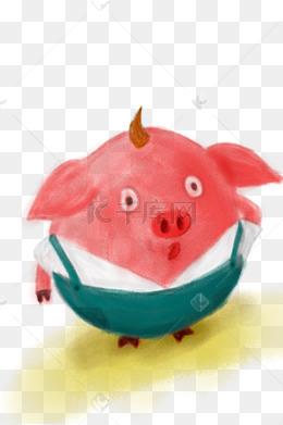 猪年的手绘图片