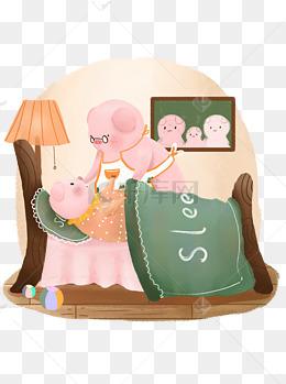 猪开心元素生肖可爱表情猪可表情卡通萨瓦商用包图的迪卡图片