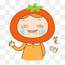 吓哭的小女孩衣服png素材日常图片卡通女生图片