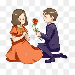 读书漂流图片大全 > 一个男生送花给女生的图片动漫 动漫男生和女生做图片