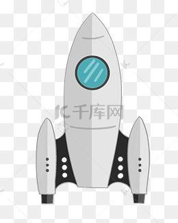卡通立体火箭插画