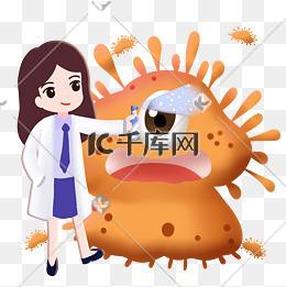 医生给细菌喷消毒水图片