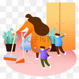千库网为设计者提供妈妈做家务扫地素材大全,妈妈做家务扫地图片素材图片