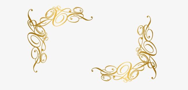 金色线条边框