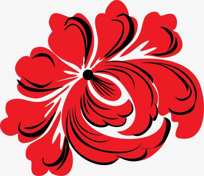 红色牡丹花中秋月饼包装设计