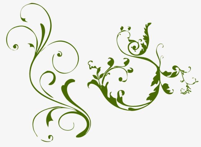 笔记本手绘花边藤蔓