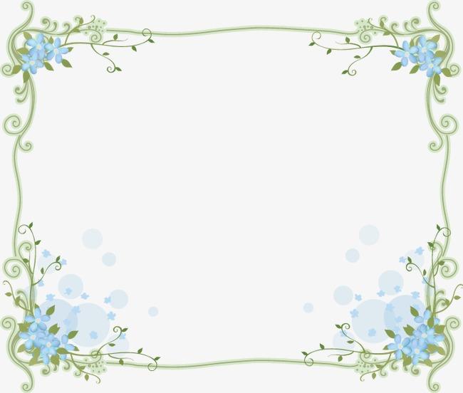 小清新花边边框底纹