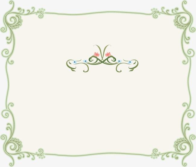 小清新边框背景素材_小清新花边素材文艺小清新背景素材简单小
