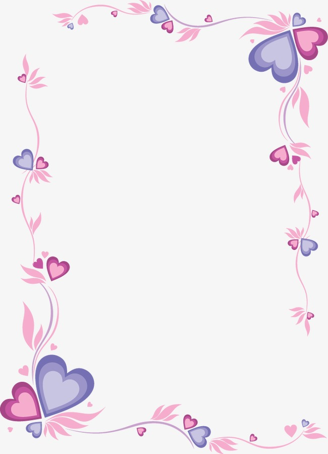 粉红色心形边框