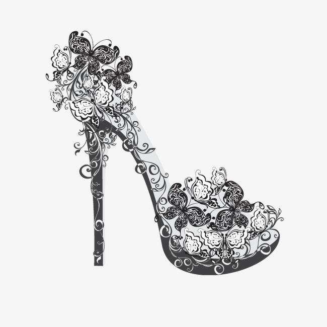 创意高更鞋【高清png素材】-90设计