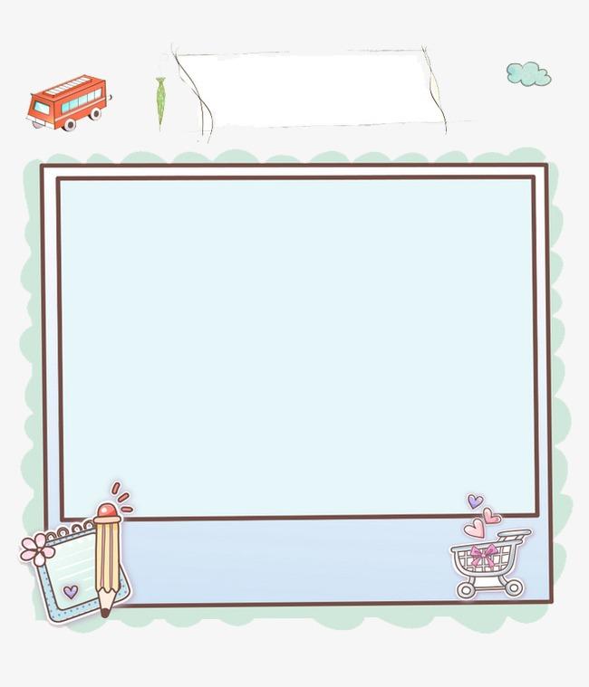 卡通图形边框素材