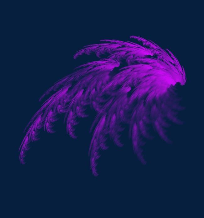 酷炫彩色翅膀